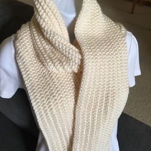 Cream Winter Scarf/White Winter Scarf